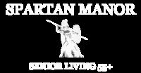 Spartan Manor Senior Apartments White Logo