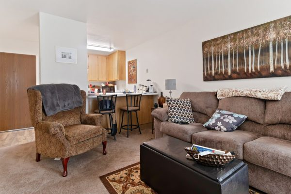 Spartan Manor Senior Apartments for rent in Modesto CA - Living Room