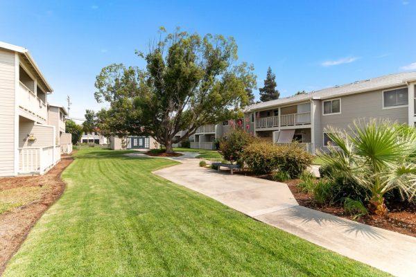 Spartan Manor Senior Apartments garden area - Modesto California